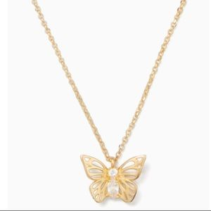 NWT Kate Spade gold butterfly necklace